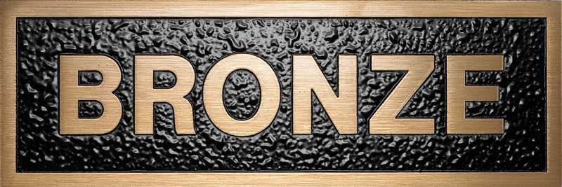 a photo of a brushed satin bronze plaque