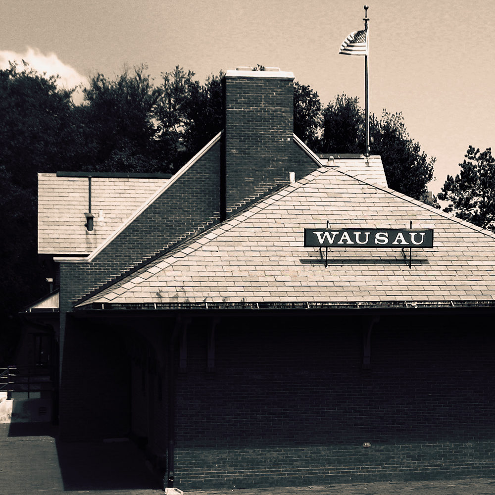 A photo of the historic Wausau train depot