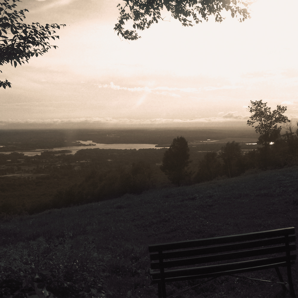 A photo of Lake Wausau as seen from Rib Mountain